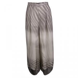 Giorgio Armani Beige Sand Printed Silk Harem Pants M