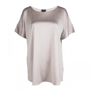 Giorgio Armani Blush Pink Oversized Short Sleeve Top M