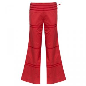 Giorgio Armani Red Piping Wide Leg Pants S
