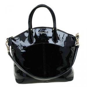 Givenchy Black Patent Leather Top Handle Bag