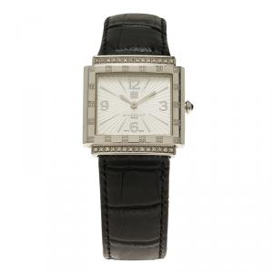Givenchy White Stainless Steel Diamond Apsaras Women's Wristwatch 26MM