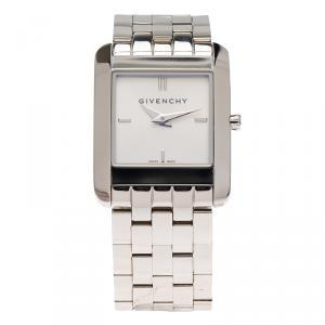 Givenchy Silver Stainless Steel Aspaaras Women's Wristwatch 20MM