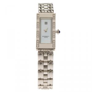 Givenchy Mother of Pearl Stainless Steel Apsaras Women's Wristwatch 15MM