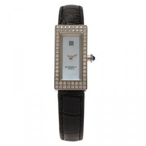Givenchy Mother of Pearl Stainless Steel Diamond Apsaras Women's Wristwatch 15MM