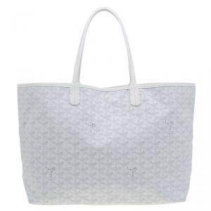 حقيبة يد جويارد سان لوي كانفاس مقوى بيضاء