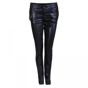 Gucci Navy Blue Metallic Coated Denim Jeans S