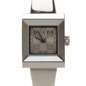 Gucci Logo Stainless Steel G-Frame 128.5 Women's Wristwatch 16MM