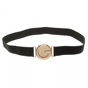 Gucci Black Elastic Interlocking G Buckle Belt 85 CM