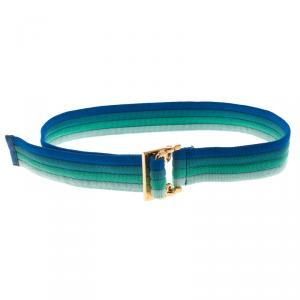 Gucci Multicolor Fabric Buckle Belt 90 CM