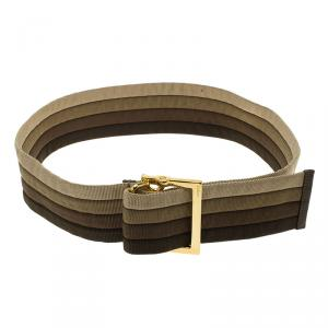 Gucci Multicolor Canvas Waistband Belt 90 CM