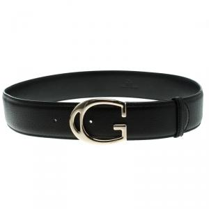 Gucci Black Leather G Buckle Belt 95 CM