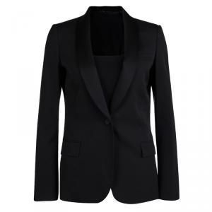 Gucci Black Wool Satin Lapel Detail Blazer M