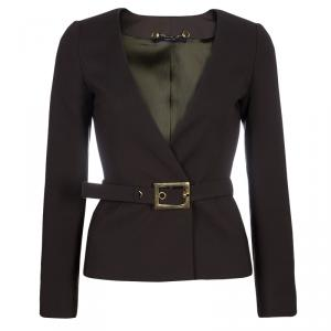 Gucci Olive Green Belted Blazer XS