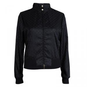 Gucci Black GG Nylon Bomber Jacket S