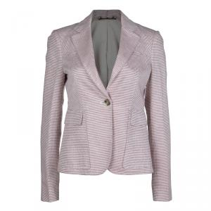 Gucci Red and White Patterned Blazer M