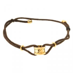 Gucci Icon Yellow Gold Adjustable Cord Bracelet