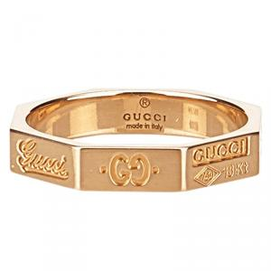 Gucci Icon Rose Gold Ring Size 51
