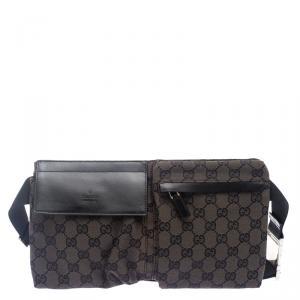 Gucci Dark Brown GG Canvas Waistbelt Bag