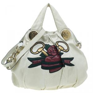 Gucci White Python Hysteria Tattoo Edition Hobo