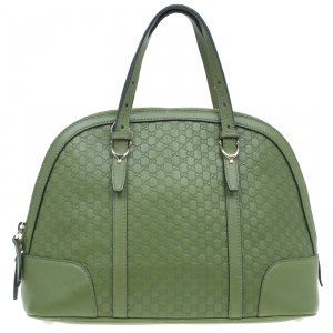 Gucci Avocado Green Micro Guccissima Leather Nice Satchel Bag