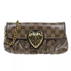 Gucci Beige GG Crystal Hysteria Evening Bag