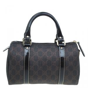 Gucci Brown GG Coated Canvas Small Joy Boston Bag