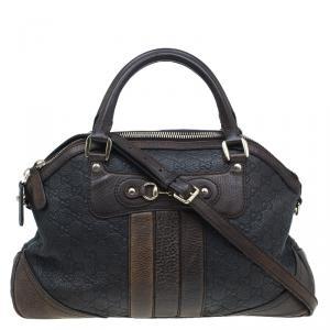 Gucci Dark Brown Guccissima Leather Medium Catherine Satchel