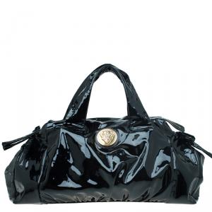 Gucci Black Patent Leather Hysteria Top Handle Bag