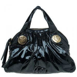 Gucci Black Patent Leather Hysteria Satchel