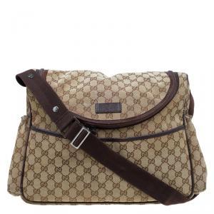 Gucci Beige/Ebony GG Canvas Diaper Bag