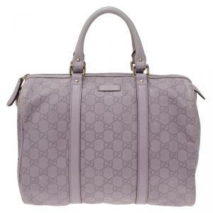 Gucci Lilac Guccissima Leather Medium Joy Boston Bag