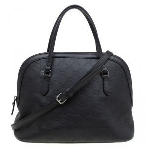 Gucci Dark Brown Guccissima Leather Satchel