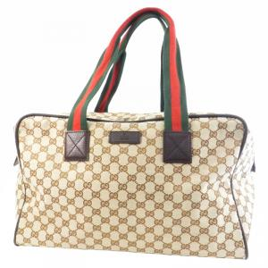 Gucci Beige/Ebony GG Canvas Collapsible Carry-On Duffel Bag