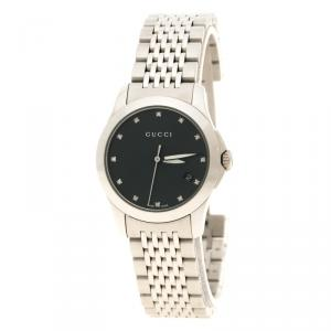 Gucci Black Mother of Pearl Stainless Steel G Timeless Women's Wristwatch 27 mm