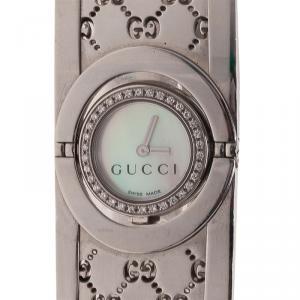 Gucci Mother of Pearl Stainless Steel 112 Twirl diamond Women's Wristwatch 18MM