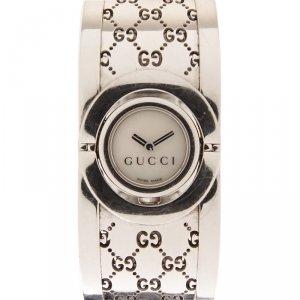 Gucci Bangle Twirl Stainless Women's Wrist Watch 22MM