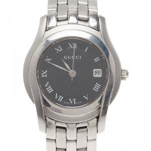 Gucci Black Stainless Steel 5500L Women's Wristwatch 28MM