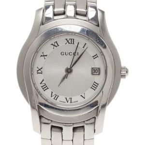 Gucci Silver Stainless Steel 5500L Women's Wristwatch 24MM