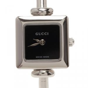 Gucci Black Stainless Steel 1900L Women's Wristwatch 20MM