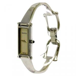 Gucci Silver Stainless Steel 1500L Women's Wristwatch 12MM