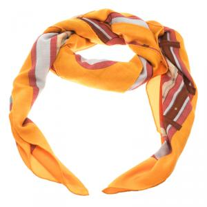 Hermes Multicolor Printed Cashmere and Silk Camails Scarf