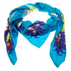 Hermes Aloha Multicolor Printed Silk Square Scarf