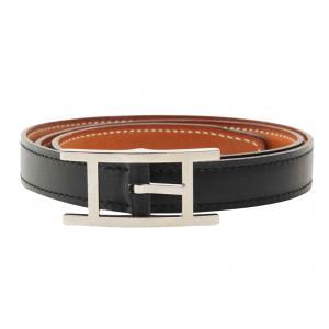 Hermes Black Leather Hapi Waist Belt 70CM