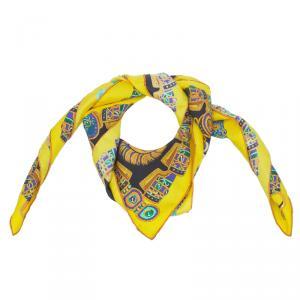 Hermes Multicolor Silk Sous l'Egide de Mars Square Scarf