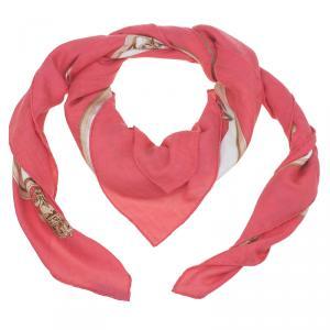 Hermes Multicolor  Silk and Cashmere Blend Cavalcadour Scarf