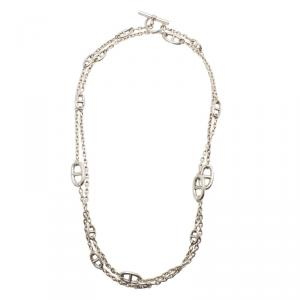Hermes Sautoir Farandole Long Silver Toggle Necklace