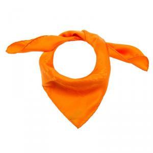 Hermes Orange H Pattern Square Silk Scarf