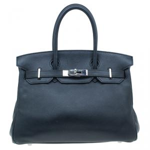 Hermes Black Leather Birkin 30