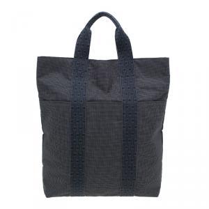 Hermes Herline Canvas Cabas Shopper Tote Bag