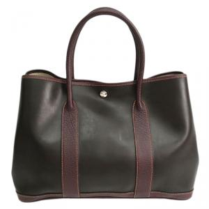 Hermes Bi Color Amazonia/Leather Garden Party PM Bag